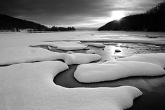 Early Snow (Peter Bowers) Tags: winter sun snow ontario canada cold water creek sunrise frozen nikon frosty frigid eaglelake peterbowers