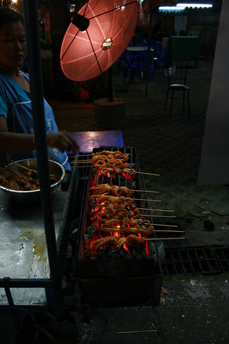 Squid skewers