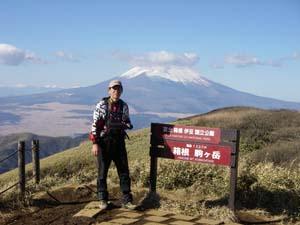 箱根山から富士山を撮す