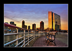 Golden Dream (DP|Photography) Tags: newjersey jerseycity waterfront boxingday hudsonriver bluehour hdr goldenhour pavonia photomatix platinumphoto debashispradhan dpphotography happynewyear2009 dp|photography