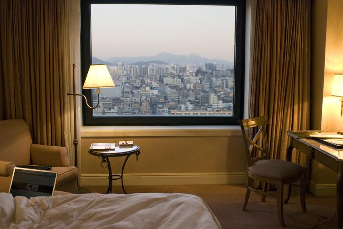 seoul korea from view of my hotel room Ritz Carlton