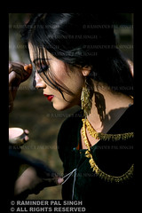 Manipur Make Up (Raminder Pal Singh) Tags: portrait woman sun india girl beauty face lady hair gold