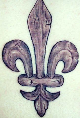 Inspired by my fleur-de-lis photo in my 'France' set, the tattoo