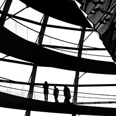 Visitors (manganite) Tags: windows people bw white abstract black building berlin men texture geometric topf25 monochrome lines architecture contrast digital germany walking square geotagged lights interestingness high nikon women europe pattern shadows tl candid curves perspective silhouettes mirrors parliament stranger explore reichstag german d200 nikkor dslr interestingness409 i500 18200mmf3556 utatafeature manganite nikonstunninggallery geo:lat=5251863 geo:lon=13376015 date:month=december date:year=2008 date:day=27 format:orientation=square format:ratio=11