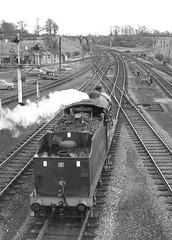 Class 4F 44188. Woodford Halse. 24 April 1965 (ricsrailpics) Tags: uk bw steam 1965 woodfordhalse exlms slsspecial class4f