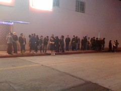 Line in front