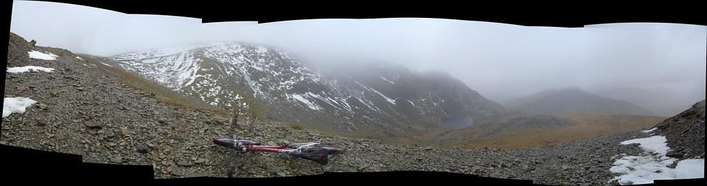 Riding up Snowdon
