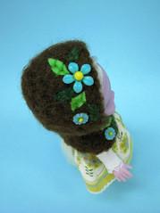 Illuminati (Helena / Funny Bunny) Tags: brown felted vintage beads hoodie doll embroidery felt 1972 olds illuminati luma funnybunny emeraldwitch solidbackground fbfashion