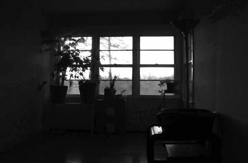 Dining Room at Dusk - IMG_5881_BW