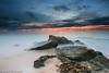 Beach Dawn (-yury-) Tags: ocean morning sky beach water clouds sunrise canon dawn sand rocks sydney australia nsw 5d monavale warriewood abigfave ultimateshot