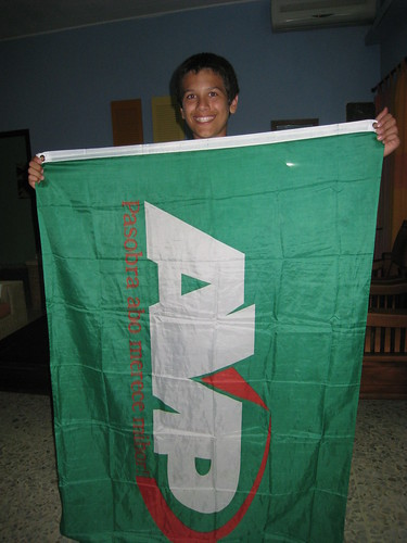 Peter with AVP flag