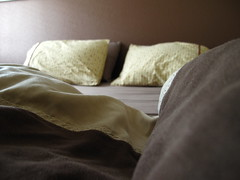 Nap Time (alachia) Tags: light brown yellow bed afternoon bokeh sheets pillow guestbedroom modal microsuede alachia