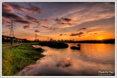 (Danshui River Sunset_4) (nans0410) Tags: sunset cloud reflection nikon tokina  taipei  hdr    d90   danshuiriver