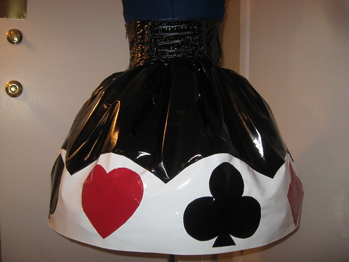 Vinyl Trump Applique Skirt 007