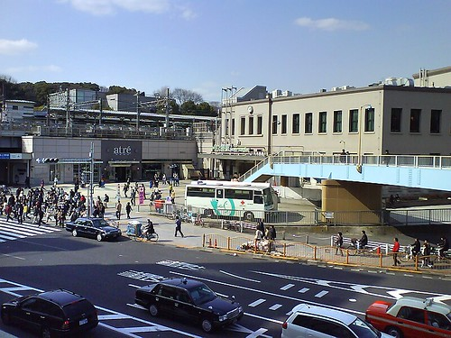 Ueno Station from across the Street