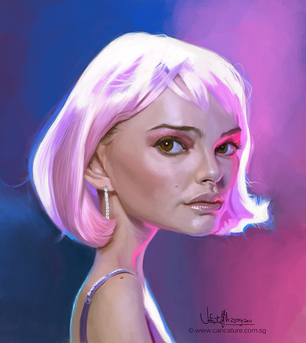 digital caricature of Natalie Portman caricature (final)