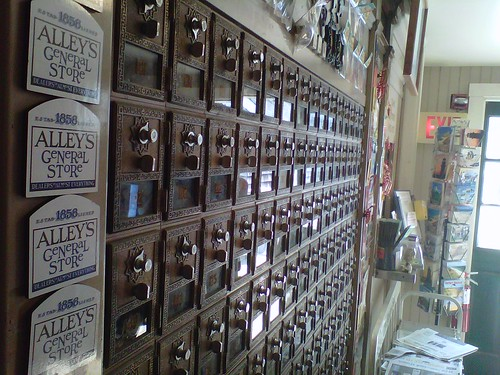 Old style post office boxes at Alley's General Store, Martha's Vineyard by arthennessey