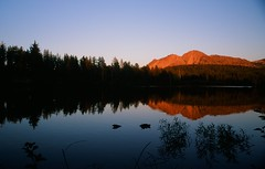 Chaos Crags& Manzanita Lake, California (Bindu&Sudhir) Tags: california park lake film chaos slide national kodachrome northern volcanic crags lassen manzanita