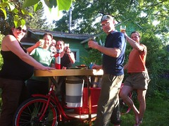 sunny day keg_07 (METROFIETS) Tags: green beer bike bicycle oregon garden portland construction paint nw box handmade steel weld coat transport craft cargo torch frame pdx custom load cirque woodstove builder haul carfree hpm suppenkuche stumptown paragon stp chrisking shimano custombike cargobike handbuilt beerbike workbike bakfiets cycletruck rosecity crafted 4130 bikeportland 2011 braze longjohn paradiselodge seattlebikeexpo nahbs movebybike kcg phillipross bikefun obca ohbs jamienichols boxbike handmadebike oregonhandmadebikeshow nntma hopworks metrofiets cirqueducycling oregonmanifest matthewcaracoglia palletbike oregonframebuilder seattlebikeshow bikefarmer trailheadcoffee