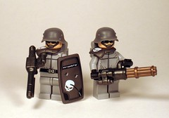 Punk Germans (2) (*Nobodycares*) Tags: punk lego wwii bap worldwarii ww2 guns worldwar2 germans uas sheaths mg34 kar98 brickarms aww2 mmcb weirdwarii weirdwar2 awwii