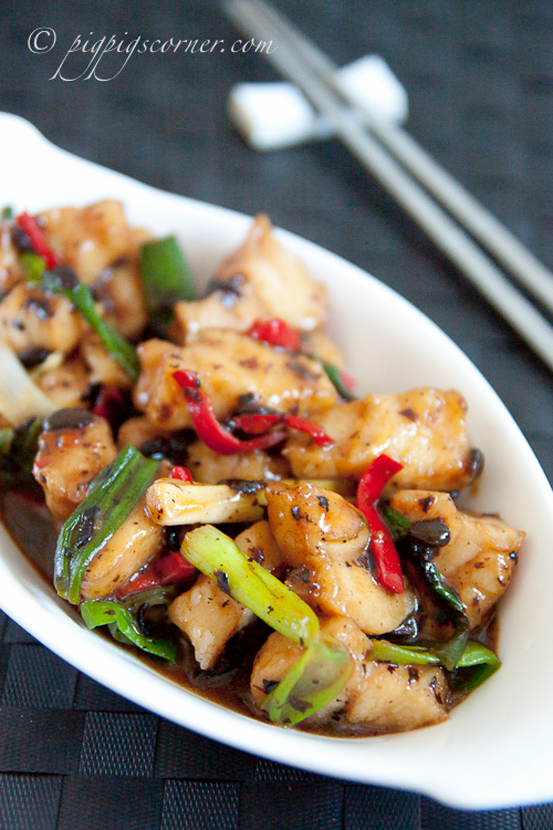 Stir-Fried Crocodile with Spicy Black Bean Sauce
