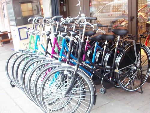 Bicicletas de colores en Amsterdam