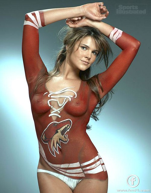 Sports Illustrated Lingerie model Daniella Sarahyba in body paint