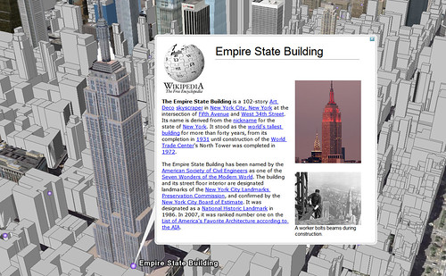 Google Earth at the Empire State Building