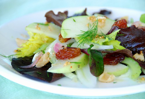 apple, fennel, and celery salad