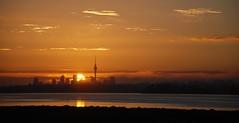 Sonnenaufgang über Auckland