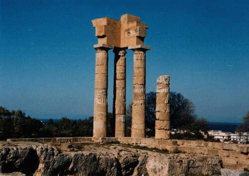 Templo a Apolo, Rodas, Grecia