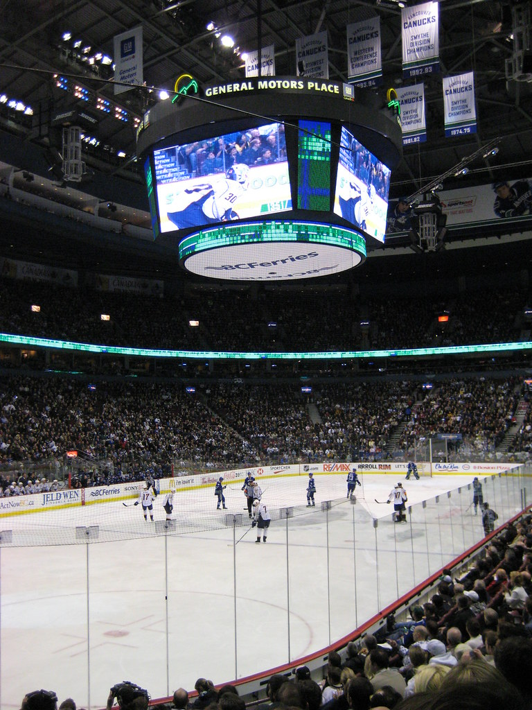 My View at the Canucks Game