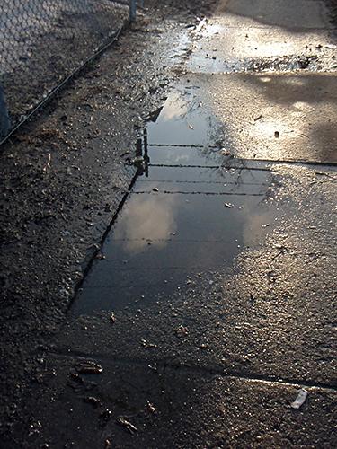 sidewalk puddle