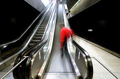 i chose the slide (Toni_V) Tags: longexposure red motion blur me station movement nikon tripod zurich escalator perspective rollerblading 2008 inlineskating gitzo d300 sigma1020mm selnau arcaswiss toniv gt1540 toniv monoballz1 phototouroninlineskates