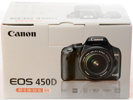 Front view of the Canon XSi / 450D box