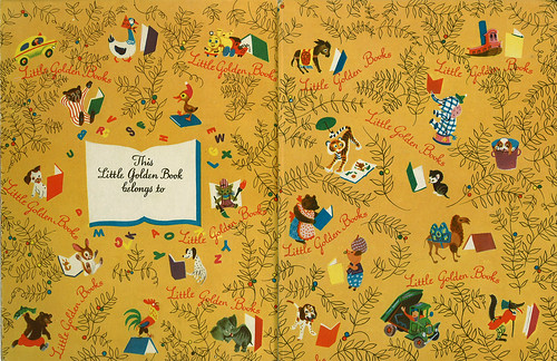 Little Golden Book Endpages