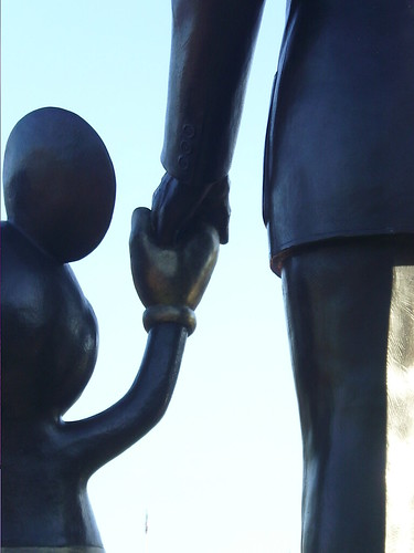 Walt and Mickey hands