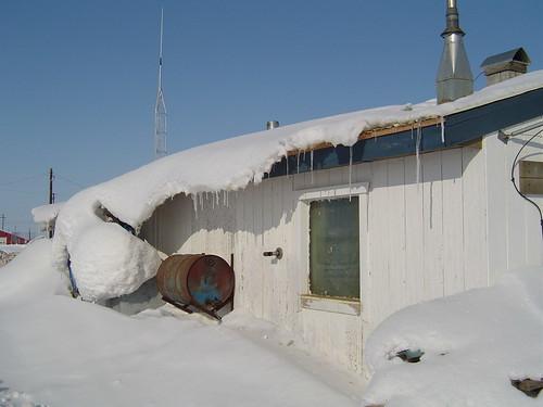 snow sliding 1