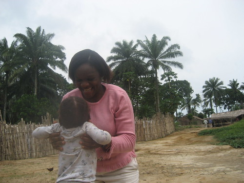 Madame A.T. with Obenge child