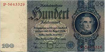 1935 100 Reichsmark