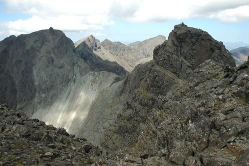 Sgurr Mhic Choinnich, Collies ledge and Sgurr Dearg