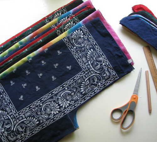 sewing shorts bandanas