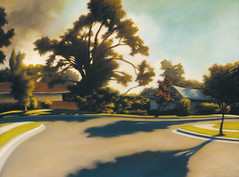 The Deacon's Path (bondolou) Tags: california street trees houses light sunset sky urban usa dog mountains green art home nature water rock architecture modern night clouds sunrise buildings painting landscape fire la losangeles blurry moody afternoon