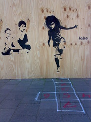 FAKE STENCIL AMSTERDAM (.FAKE.) Tags: street urban streetart stencils holland london art girl dutch amsterdam festival graffiti video interestingness stencil fake banksy best urbanart vandalism cans curb artstreet amsterdamstreetart vndlsm fakeamsterdam artstreetfake