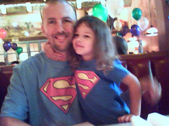 supergirl and superdaddy!
