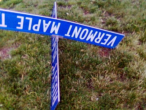 Fallen Street Sign