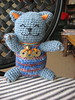 Blue Maneki Neko (mountainweaver) Tags: cats toys crochet amigurumi manekineko fortunecat