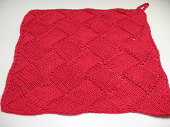 Entrelac dishcloth