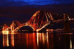 Forth Rail Bridge - Night View (Ian Lambert) Tags: bridge night river that coast scotland edinburgh fife south id tide taken rail east forth damn wish queensferry supershot i theunforgettablepictures excellentafterdark silhouettephotography iwishidtakenthat damniwishidtakenthat wishitookthat