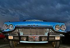 Bluebird (oybay) Tags: blue arizona sky ford car clouds classiccar automobile bluesky monsoon thunderbird tbird fordthunderbird